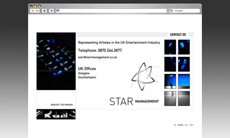 Star Management Website